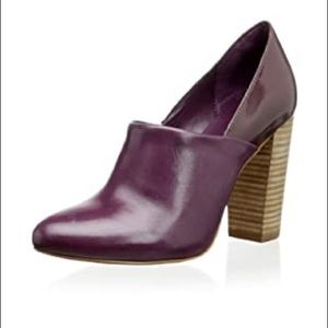 Kate Spade Saturday Ankle Booties Leather Plum